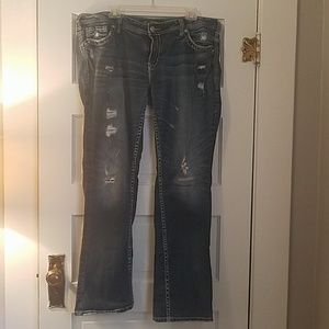 Silver Aiko Baby Boot Jeans